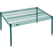 """Nexel® Poly-Green Wire Dunnage Rack - 36""""W x 24""""D x 14""""H"""