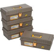 "Plano Molding 100-000 Toolbox No Tray 15-3/8""L x 7-3/4""W x 5-1/4""H Gray - Pkg Qty 4"