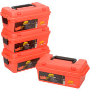 "Plano Molding 141250 Marine Supply Box 15""L x 8""W x 6-1/4""H, Orange - Pkg Qty 4"