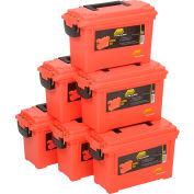 "Plano Molding 131252 Marine Emergency Box 11-5/8""L x 5-1/8""W x 7-1/8""H, Orange - Pkg Qty 6"