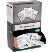 "MSA Safety Respirator Towelettes, 7-1/4"" x 5"", 100/Box, 697383"