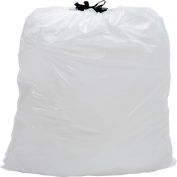 Draw-Tuff® Industrial Drawstring Trash Bags, 13 Gal, White, 0.7 Mil, 300/Case