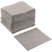"Global Industrial Universal Pad, Medium Weight, 15"" x 18"", Gray, 100/Pack"