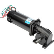 Leeson M1135043.00, 1/4 HP, 83 RPM, 90VDC, TENV, 13, 30:1 Ratio, 125 In-Lbs