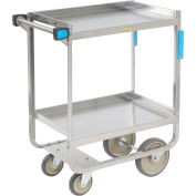 Lakeside® 721 HD Stainless Steel 2 Shelf Cart 32-5/8 x 19-3/8 x 34-1/2 700 Lb Cap