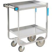 Lakeside® 510 NSF HD Stainless Steel 2 Shelf Cart 30 x 16-1/4 x 34-1/4 700 Lb Cap