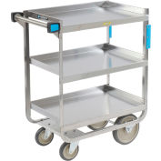 Lakeside® 544 NSF HD Stainless 3 Shelf Cart 38-5/8 x 22-3/8 x 37-1/8 700 Lb Cap