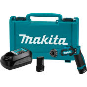"""Makita® DF012DSE, 7.2v Lithium-Ion Cordless 1/4"""" Hex Driver-Drill Kit w/ Auto-Stop Clutch"""