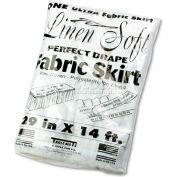 """Table Set® Linen-Like Table Skirting, White, 29"""" X 168"""" - Pkg Qty 6"""