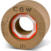 "CGW Abrasives 35376 Rubber Feed Regulating Wheels 80 Grit 9"" Aluminum Oxide"