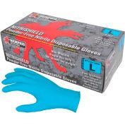 MCR Safety 6015L NitriShield Nitrile Gloves, Industrial/Food Grade, Textured, Powder Free, Large