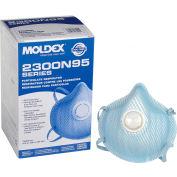 Moldex 2300N95 2300 Series N95 Particulate Respirators, Exhalation Valve, M/L, 10/Box