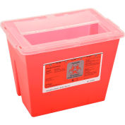 """2-Gallon Multi-Purpose Sharps Container, 11-5/8""""W x 7-3/4""""D x 8-5/8""""H, Red"""