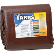 6' x 8' Super Heavy Duty 8 oz. Tarp Brown - BR6x8
