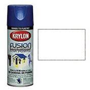 Krylon Fusion For Plastic Paint Flat White - K02518 - Pkg Qty 6