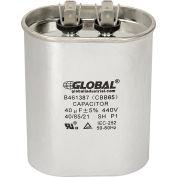 Global Industrial™ B461387, 40 +/- 5% MFD, 440V, Run Capacitor, Oval