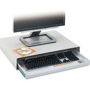 "Innovera® 53001 Desktop Keyboard Drawer, 15"" Track Length, Light Gray"