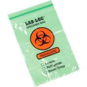 "Reclosable 3-Wall Specimen Transfer Bag (Biohazard), 6"" x 9"", Green Tint, Pkg Qty 1000"