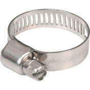 """Apache 48017006 1/2"""" -1"""" 300 Stainless Steel Micro Worm Gear Clamp w/ 5/16"""" Wide Band"""