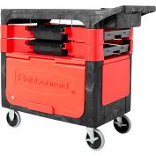 Rubbermaid® 6180-88 Black Trades Cart with Locking Cabinet