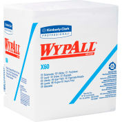 """Wypall X60 Wipers 1/4 Fold 12-1/2"""" x 13"""", White 76 Wipes/Box 12/Case - KIM34865"""