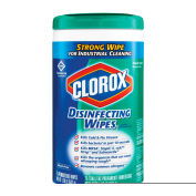 "Clorox® Disinfecting Wipes, 7"" x 8"", Fresh Scent, 75 Wipes/Can, 6/Case - 15949"