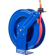 "Coxreels SH-N-475 1/2"" x 75' 300PSI Heavy Duty Spring Rewind Hose Reel For Air/Water"