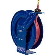 "Coxreels P-LP-350 3/8""x50' 300 PSI Spring Retractable Low Pressure Steel Hose Reel"