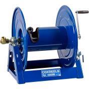 """Coxreels 1125-4-100 1/2""""x100' 3000 PSI Hand Crank Medium Pressure Hose Reel"""