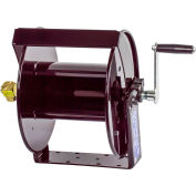 "Coxreels SM17-3-250 3/8""x250' 4000 PSI Hand Crank High Pressure Steel Hose Reel W/ Swivel Mount"