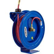 "Coxreels P-LP-125-AL 1/4""x25' 300 PSI Alumi-Pro® Spring Rewind Lightweight Aluminum Hose Reel"