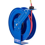 "Coxreels SH-N-350 3/8"" x 50' 300PSI Heavy Duty Spring Rewind Hose Reel For Air/Water"