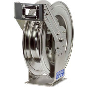 "Coxreels TSHL-N-4100-SS 1/2""x100' 300 PSI Stainless Steel Spring Retractable Low Pressure Hose Reel"