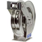 """Coxreels TSHL-N-550-SS 3/4""""x50' 300 PSI Stainless Steel Spring Retractable Low Pressure Hose Reel"""