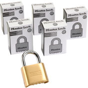 Master Lock® No. 175 Bottom Resettable Combination Padlocks - Pkg Qty 6