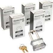 Master Lock® No. 1KALF General Security Laminated Padlocks - Keyed Alike - Pkg Qty 6