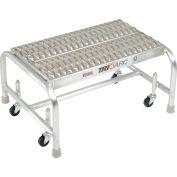 "1 Step Mobile Aluminum Step Stand w/ Grip Strut Top Step & 24""W Platform - WLAR001245"