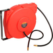 """Legacy™ L8250 3/8""""x50' 300 PSI Enclosed Chassis Spring Retractable Plastic Air Hose Reel"""