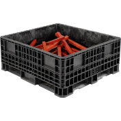 "ORBIS Heavy-Duty BulkPak Container HDRS4548-19 - 48""L x 45""W x 19-5/16""H - Fixed Wall Black"