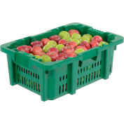"""LEWISBins Stack-N-Nest Agricultural Container NPL654B, 23-29/32"""" x 16"""" x 8-13/16"""", Green - Pkg Qty 5"""