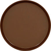 "Cambro PT1400167 - Tray Polytread 14"" Round,  Brown - Pkg Qty 12"
