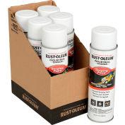 Rust-Oleum S1600 System Inverted Striping Paint Aerosol, White - Pkg Qty 6