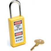 Master Lock® Safety 411 Series Zenex™ Thermoplastic Padlock, Yellow, 411YLW