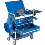 "Sunex Tools 8045BL 27"" Professional 5 Drawer Blue Tool Cart W/ Locking Top"