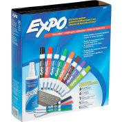 Sanford® Expo Low Odor Dry Erase Marker Kit, Assorted Ink, 12/Set