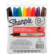 Sharpie® Permanent Marker, Pen Style, Fine Point, Assorted Ink, 8/Set - Pkg Qty 12