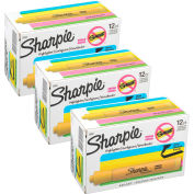 Sharpie® Accent Tank Highlighter, Smear Guard, Chisel Tip, Yellow Ink - Dozen - Pkg Qty 12