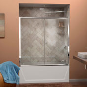 "DreamLine™ Visions Clear Glass Bathtub Door SHDR-1160586-01, 56""-60"" x 58"""