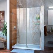 """DreamLine™ Unidoor Frameless Adjustable Shower Door SHDR-20487210CS-0, Glass Shelves, 48""""-49"""""""