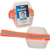 Ergodyne® Squids® Arm Band ID/Badge Holder HV, Hi-Vis Orange, 19951